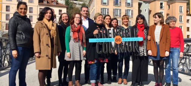 Collectif Grenoble en Commun, conférence de presse sur l'égalité, mercredi 4 mars 2020 © Ambre Croset