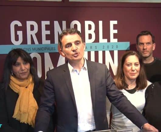 Le maire sortant de Grenoble est arrivé largement en tête du premier tour © Place Gre'net