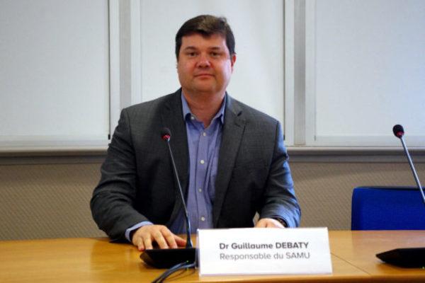 Le docteur Guillaume Debaty, responsable du SAMU 38. © Anissa Duport-Levanti - Place Gre'net