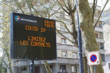 Couvre-feu pour neuf métropoles dont Grenoble. © Anissa Duport-Levanti - Place Gre'net