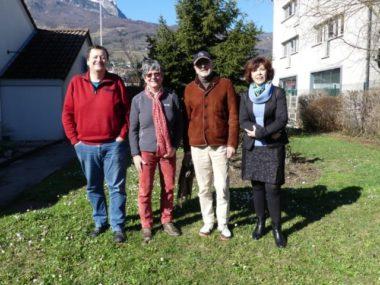 De gauche à droite. Eric Grasset, la tête de liste Catherine Brette, François Gilabert et Laurence Algudo. © ICD Seyssins