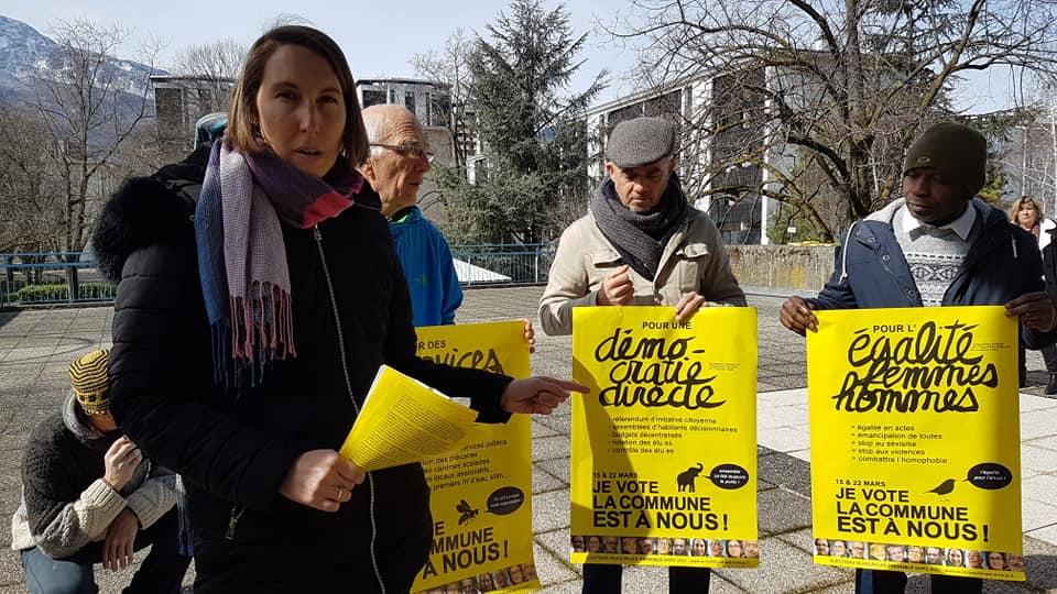 La commune est à nous, des « dissident du piollisme » ? © Séverine Cattiaux - Place Gre'net
