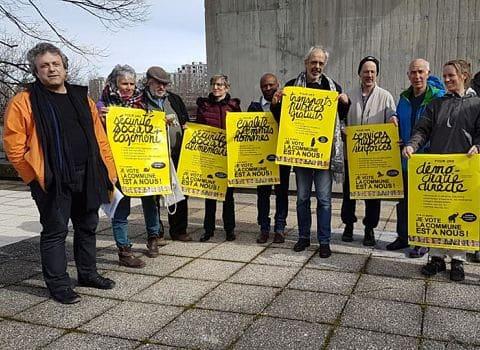UNE Colistiers de La commune est à nous ! lors de la présentation du programme, mardi 3 mars 2020 © Séverine Cattiaux - Place Gre'net