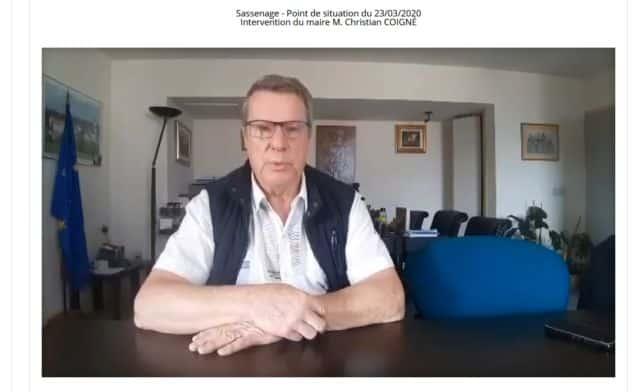 Confinement : les maires maintiennent le lien via Internet. Sur le site de Sassenage, le maire Christian Coigné prend lui aussi la parole en vidéo © Ville de Sassenage