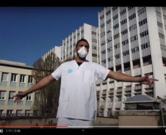 """Samir Baloul, dans le clip de la chanson """"20h"""" du trio de rappeurs grenoblois G7N. © G7N"""