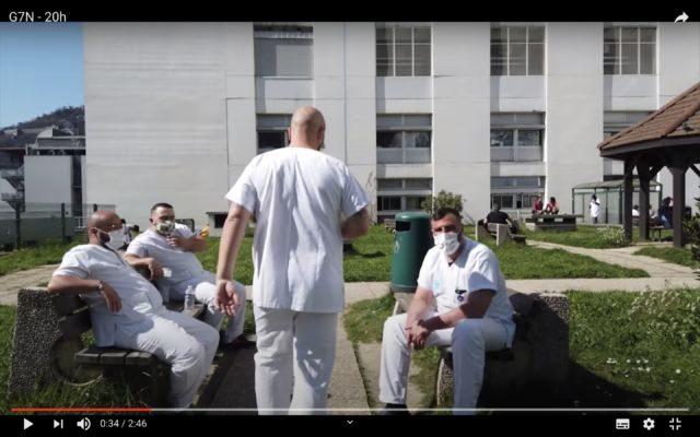 """Extrait du clip """"20h"""" de G7N en hommage aux soignants. © G7N"""