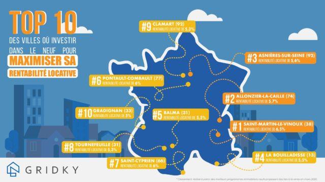 Cartographie du classement Gridky © Gridky