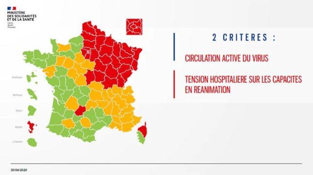 Vert, orange ou rouge : les départements français sont classés selon trois couleurs en fonction de la situation sanitaire liée au Covid-19.