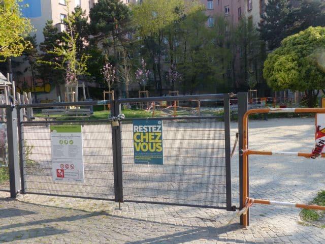 Un déconfinement sous surveillance sanitaire à Grenoble.Les parcs de Grenoble vont être de nouveau accessibles © Florent Mathieu - Place Gre'net