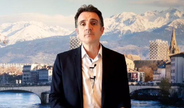 Éric Piolle appelle à réfléchir à l'après-confinement. Le maire de Grenoble lors de son point d'étape auprès des Grenoblois le mardi 14 avril © Ville de Grenoble