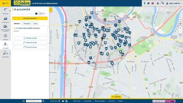 Carte interactive Itinisère