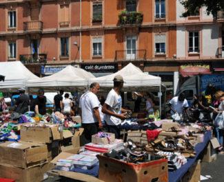 COUV Marché place Saint-Bruno à Grenoble. © Muriel Beaudoing - placegrenet.fr