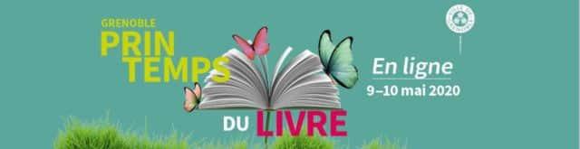 Visuel du Printemps du livre en ligne. © Ville de Grenoble