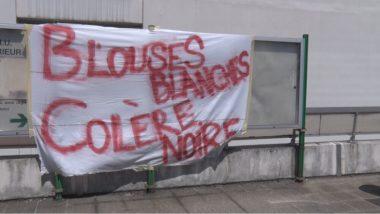 Des personnels hospitaliers ont débrayé au CHU Grenoble © Joël Kermabon - Place Gre'net