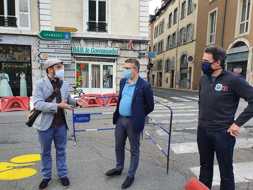 Des Pistes Cyclables Transitoires A Grenoble Des Le 11 Mai Place Gre Net