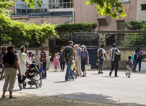 UNE Sortie de classe de l'école maternelle du jardin de ville, Grenoble © Chloé Ponset - Place Gre'net
