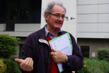 Hervé Derriennic, secrétaire de l'Union de quartier et membre du Collectif des usagers du GHM. © Anissa Duport-Levanti - Place Gre'net