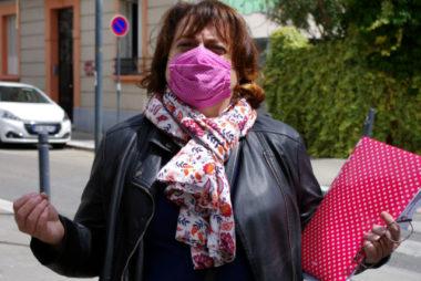 Joëlle Estivals, ancienne sage-femme et membre du Collectif des usagers du GHM. © Anissa Duport-Levanti - Place Gre'net