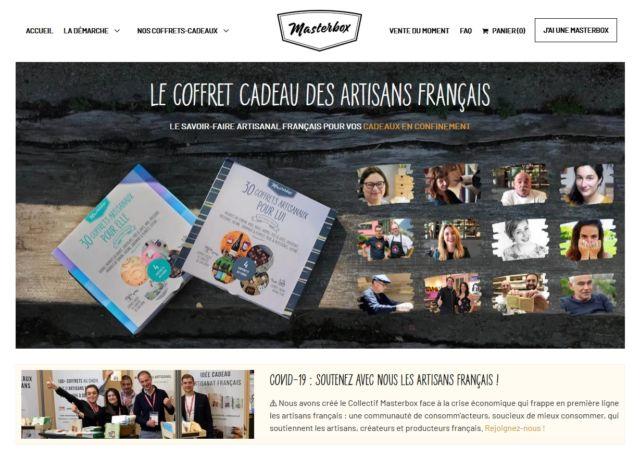 La start-up iséroise MasterBox crée un collectif de « consomm'acteurs » pour aider l'artisanat français.Page d'accueil du site MasterBox. © MasterBox