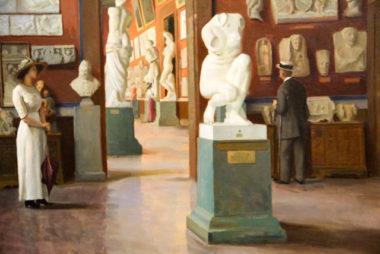 Visiteurs au musée, une oeuvre de Jules Bernard © Laure Gicquel