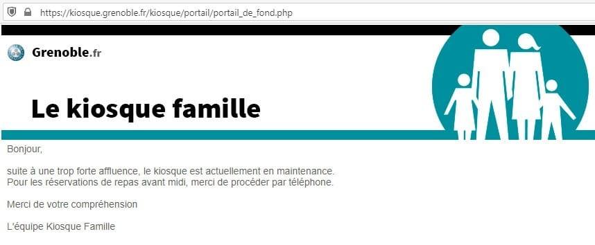 Jeudi 18 juin, le Kiosque famille de la Ville de Grenoble était aux abonnés absents.