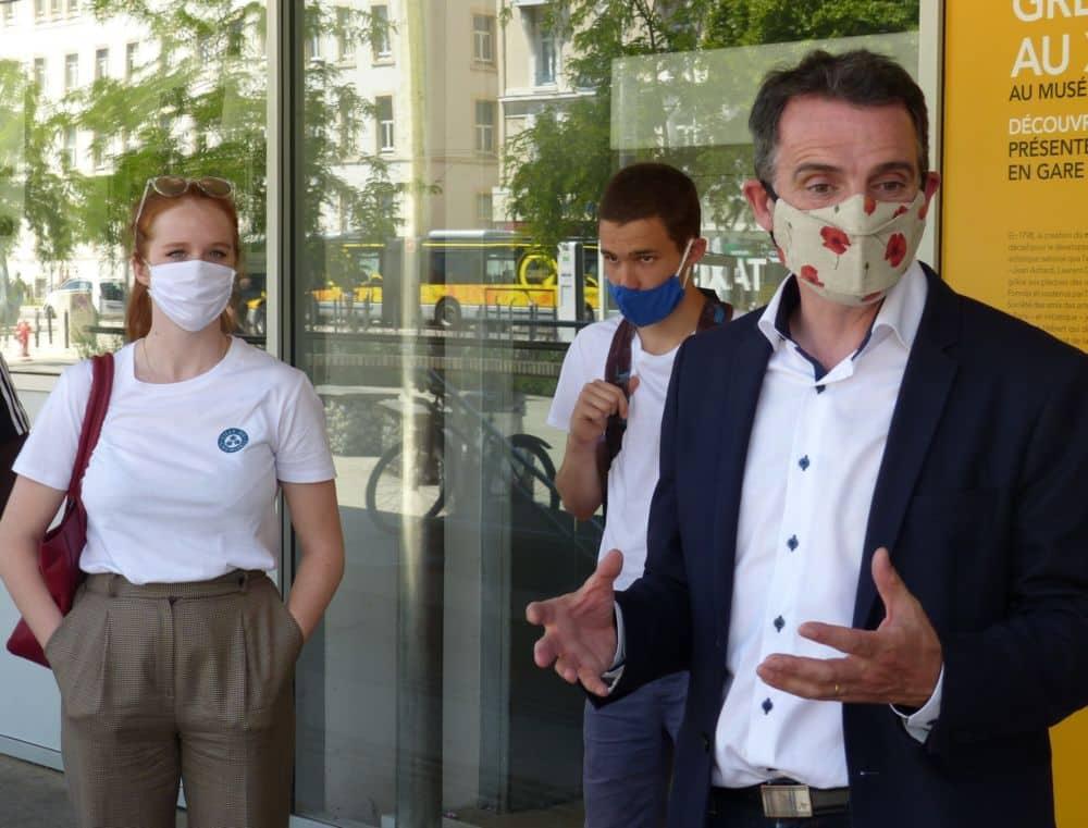 Éric Piolle présente les ambassadeurs des bons gestes de Grenoble © Florent Mathieu - Place Gre'net