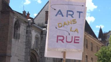 Art dans la rue à Grenoble. © Joël Kermabon - Place Gre'net
