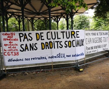 Rassemblement des intermittents du spectacle ce samedi 6 juin 2020. © Joël Kermabon - Place Gre'net