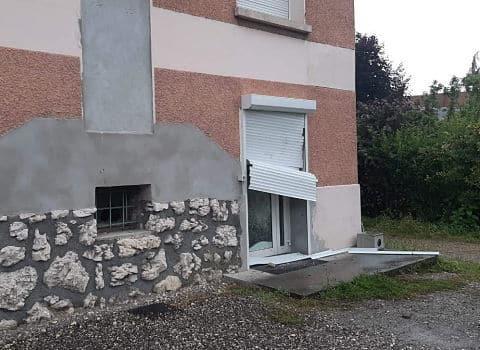 COUV Acte de vandalisme à l'encontre du local du PCF en Savoie, jeudi 4 juin 2020. DR
