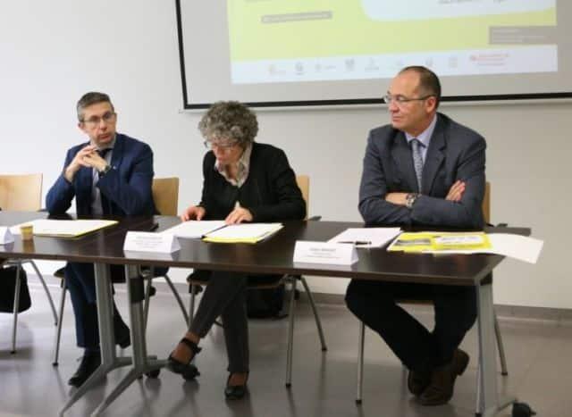 De gauche à droite : Christophe Ferrari, Christine Garnier (Métro) et Didier Monnot (Absise) © Florent Mathieu - Place Gre'net