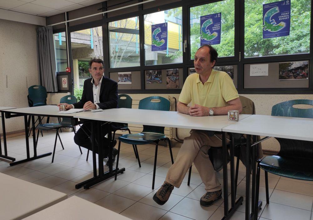 Éric Piolle et Alain Denoyelle présentent le Point conseil budget de la Ville de Grenoble © Florent Mathieu - Place Gre'net
