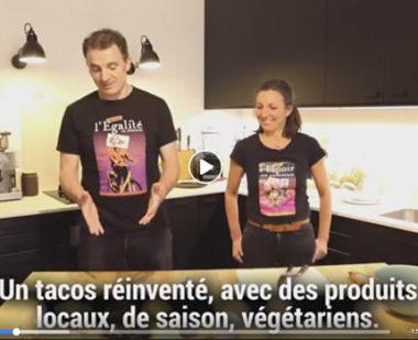 """""""Un tacos réinventé"""" : Eric Piolle joue les influenceurs de mode culinaire sur Internet à l'approche du second tour. DR"""