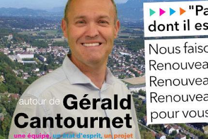 """COUV Gérald Cantournet, tête de liste """"Un nouvel élan pour Tullins-Fures"""" DR"""