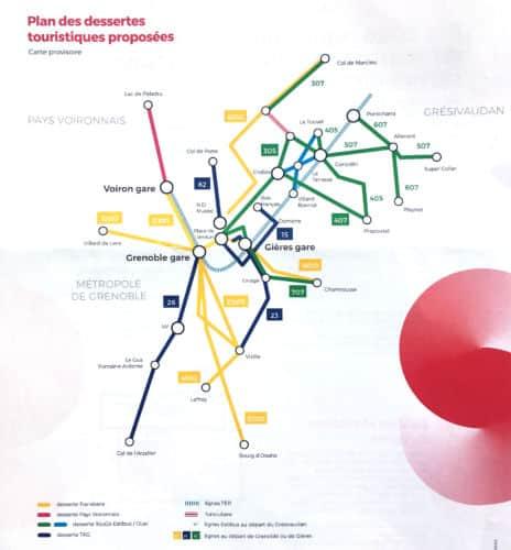 Le plan estival de transports du Smmag. © Anissa Duport-Levanti - Place Gre'net