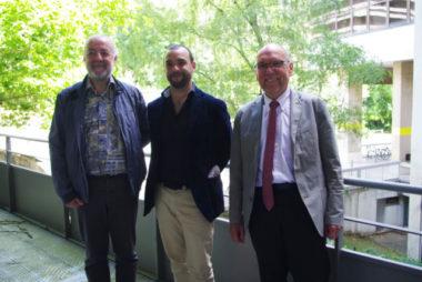 Yann Mongaburu, Président du Smmag (au centre) et ses deux vice-présidents, Jean-Paul Bret et Francis Gimbert. © Anissa Duport-Levanti - Place Gre'net