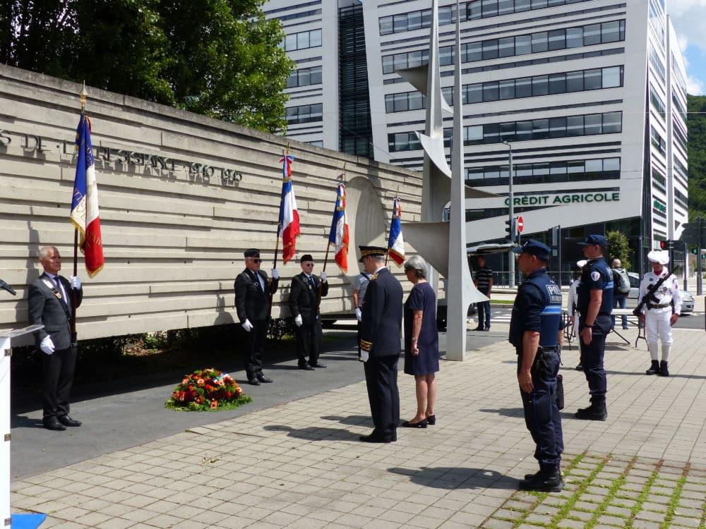 Cérémonie commémorative de l'appel du 18 juin en 2020 © Léo Aguesse – Place Gre'net