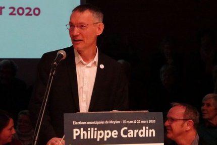 Philippe Cardin est élu maire de Meylan avec 53,86 % des suffrages exprimés
