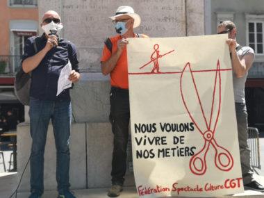 de gauche à droite : le réalisateur Michel Michel Szempruch et Patrick Seyer. © Joël Kermabon - Place Gre'net