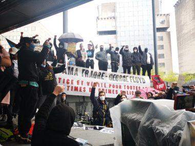 Violences policières : important rassemblement à Grenoble© Joël Kermabon - Place Gre'net