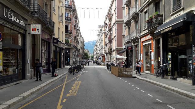 La rue Lakanal est piétonne tous les samedis. DR