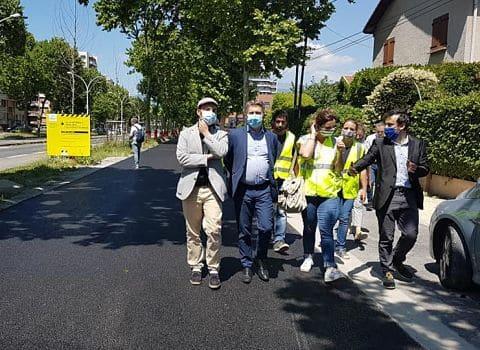 UNE Visite de chantier de la Chronovélo 3 sur le cours Saint André à Pont de Claix, vendredi 29 mai 2020 © Séverine Cattiaux - Place Gre'net