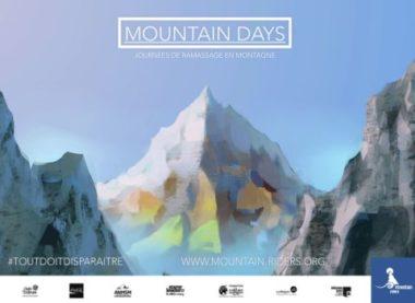 """Affiche de la campagne de collecte des déchets """"Moutain Days""""."""