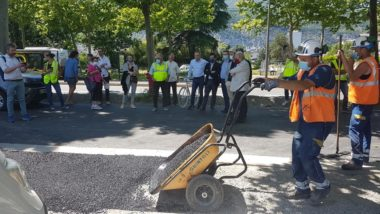 Visite de chantier de la Chronovélo 3 sur le cours Saint André à Pont de Claix, vendredi 29 mai 2020 © Séverine Cattiaux - Place Gre'net