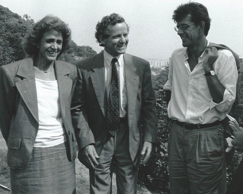 Alain Carignon (au centre) en Algérie aux côtés de Gisèle Halimi et Luc Ferry © Alain Carignon