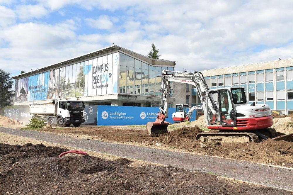 Le bâtiment doit être livré à la fin du mois de septembre 2020 © G. Atger - Région Auvergne-Rhône-Alpes