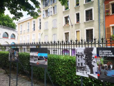 Des photos anciennes et contemporaines du quartier Saint-Laurent pour jouer sur l'avant et l'après. © Joël Kermabon - Place Gre'net
