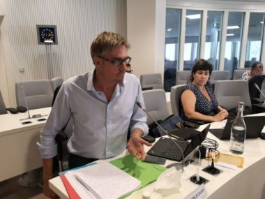 Olivier Noblecourt, conseil municipal du 25 juillet 2020 © Joël Kermabon - Place Gre'net