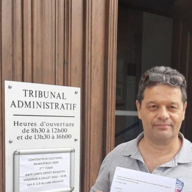 Raoul Urru dépose vendredi 3 juillet 2020 un recours en annulation du résultat des élections municipales à Eybens DR