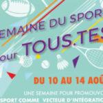 """La """"semaine du sport pour tous.tes"""": une semaine d'activités pour l'intégration"""