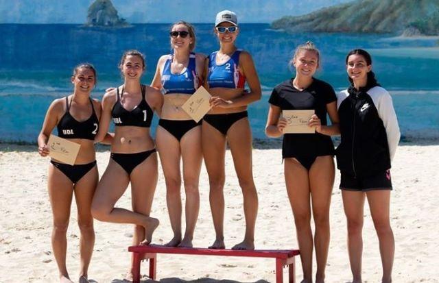 Championnes de beach volley Aura 2020